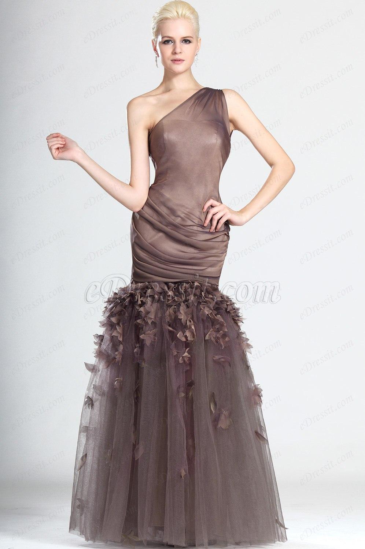 eDressit Stilvoll Ein Schulter Träger Abendkleid (00124820)