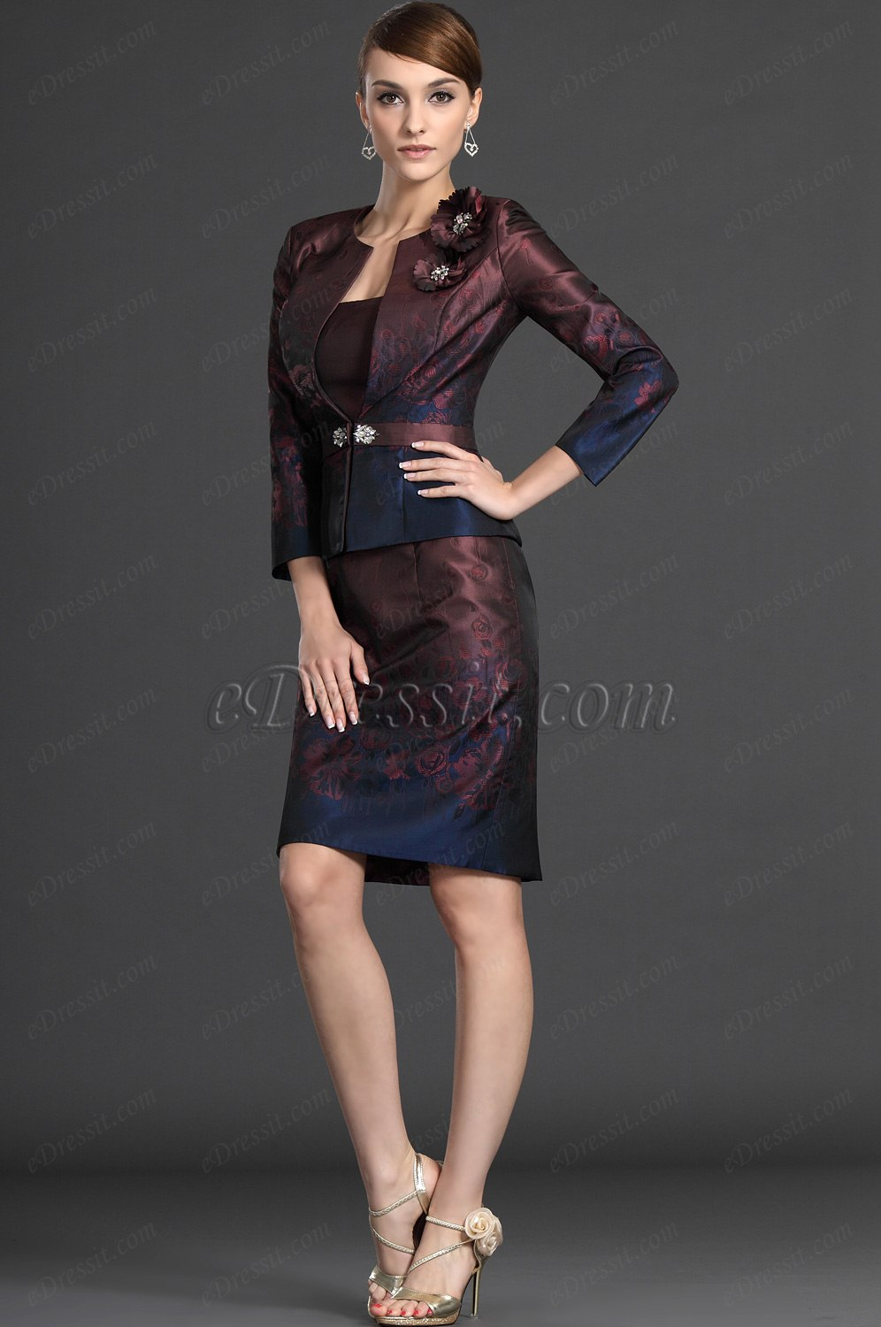 eDressit Elegant Two Pieces Mother of the Bride Dress (26122717)