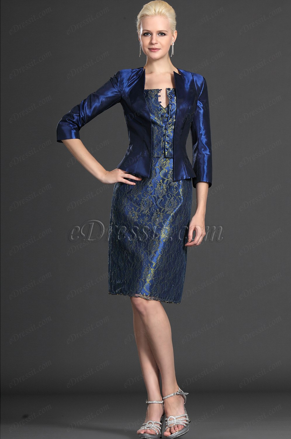 Edressit V Neck Two Pieces Mother Of The Bride Dress