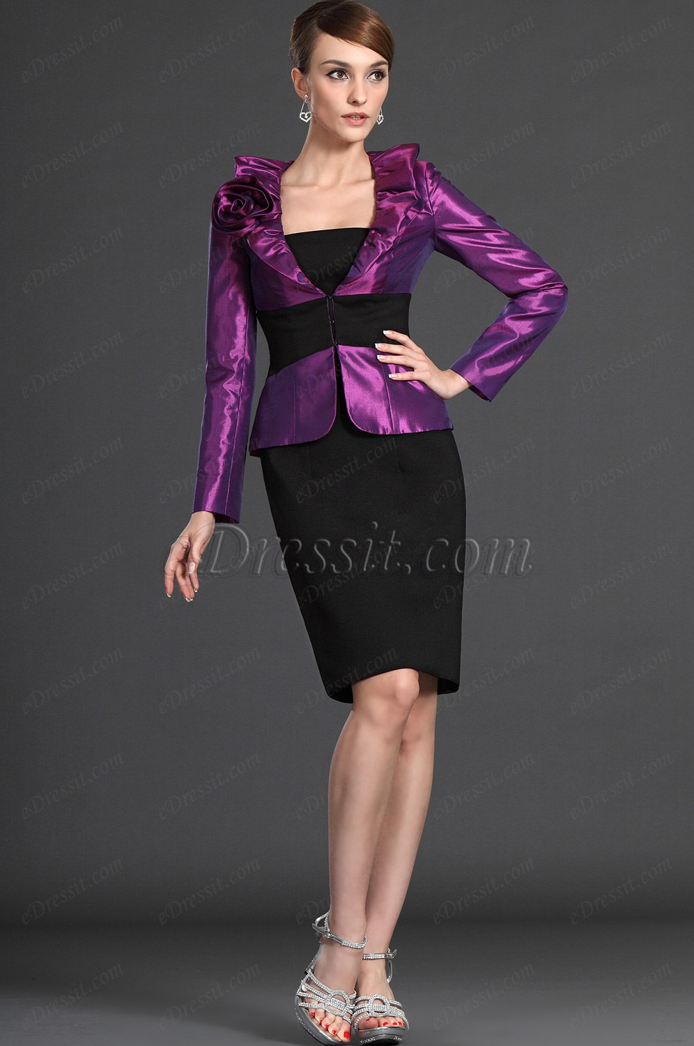 eDressit Elegance Purple Two Pieces Mother of the Bride Dress (26124212)