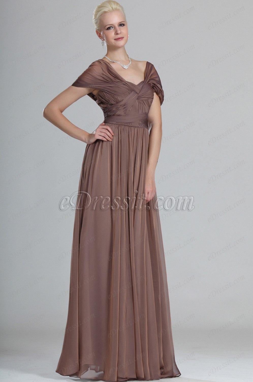 eDressit Elegante Con Mangas Vestido de Fiesta Largo (00123920)