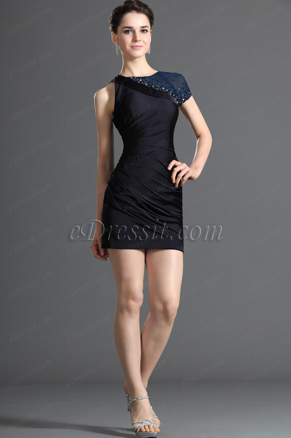 eDressit Attractive One Shoulder Dark Blue Coctail Dress Party Dress (04121605)