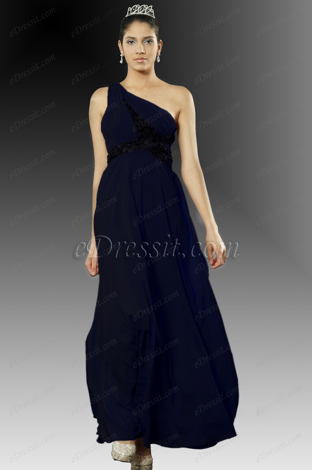 Clearance Sale ! eDressit Halle Berry Party Dress Dark Blue (A00100501)