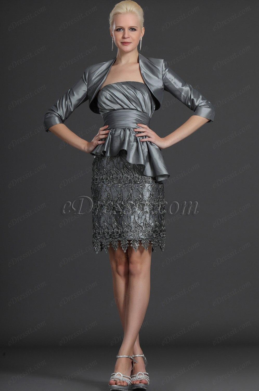 eDressit Zwei Stücke Grau Lace Kleid der Mutter von Braut (26122508)