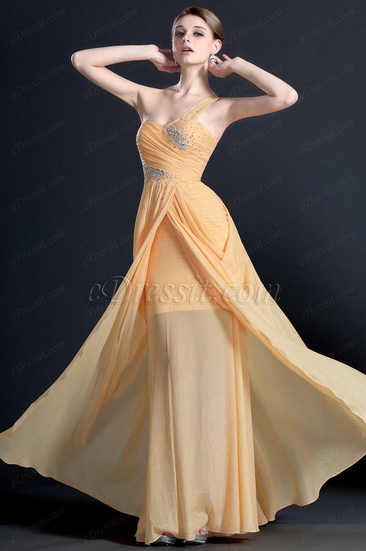 eDressit Ein Schulter Perlen Abendkleid (00121910)