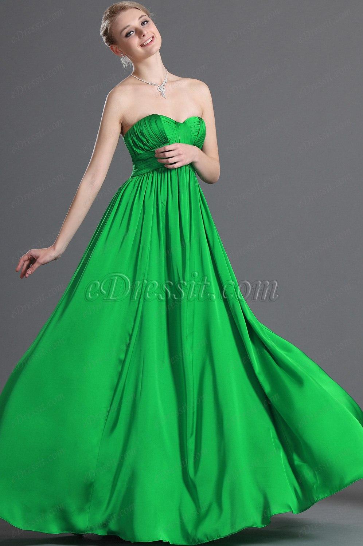 eDressit новое зеленое вечернее платье без бретелек (00123204)