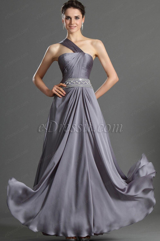 eDressit Brillante Solo One Shoulder Vestido de Noche (00123306)