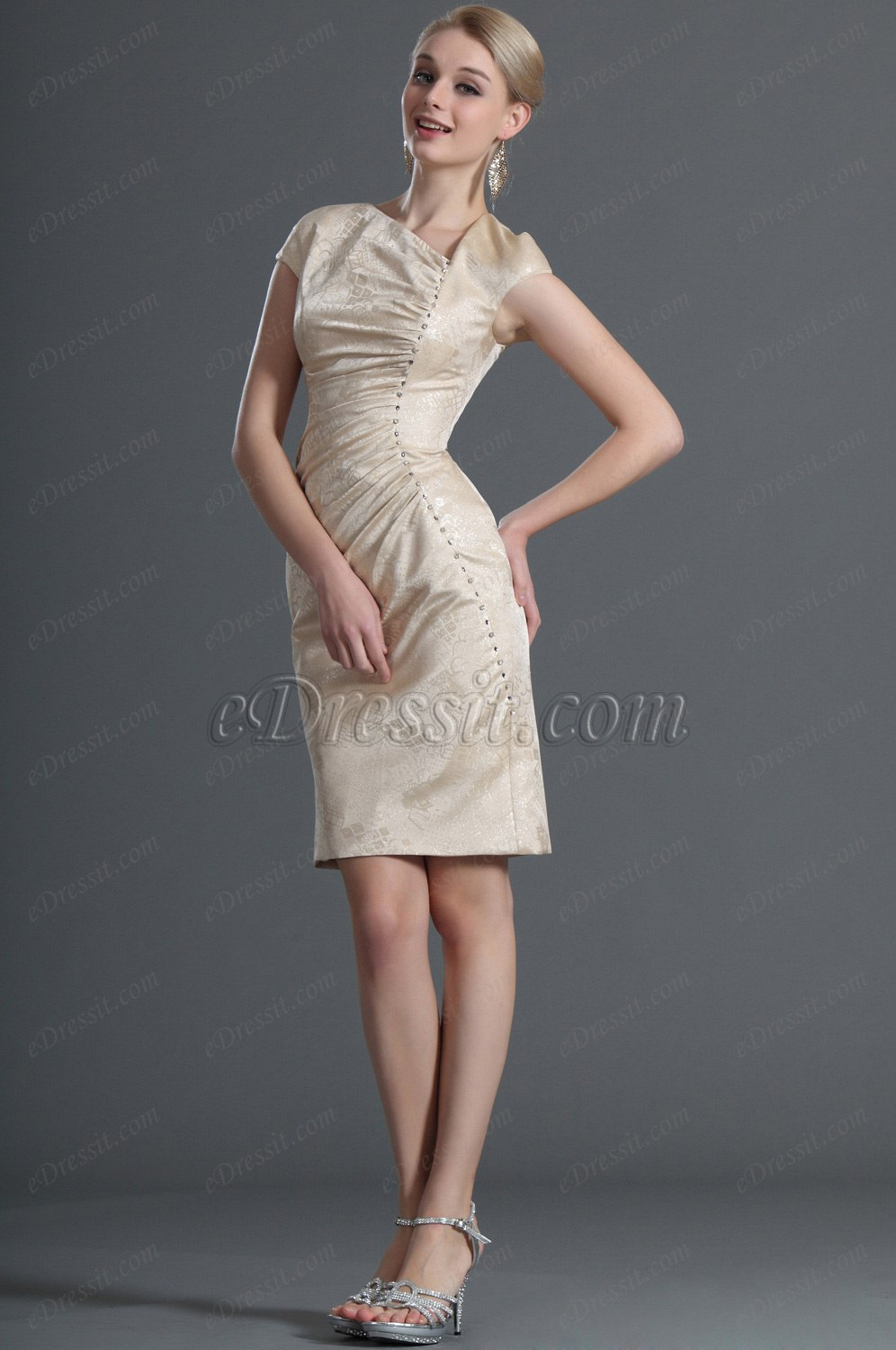 eDressit Cap Sleeves Cocktail Dress Day Dress (03120814)
