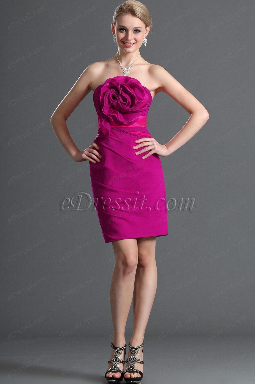 eDressit  Reizvoll  Trägerlos Dunkel Rosa Party Abendkleid (07120612)