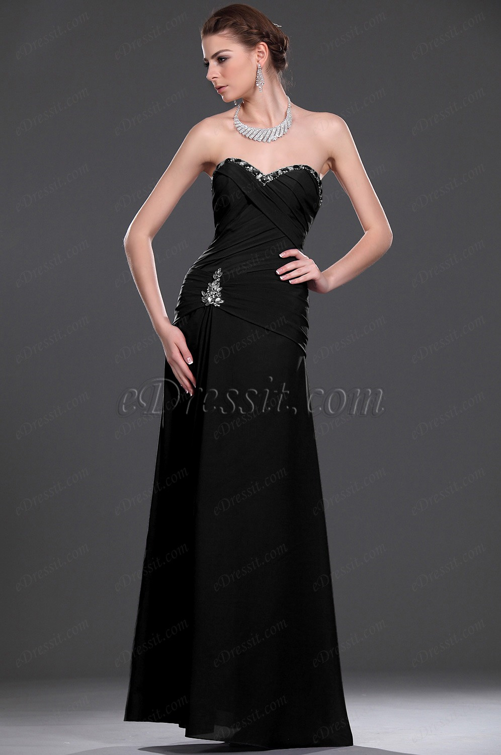 Clearance Sale !eDressit Black Mother of the Bride Dress (26114506B)