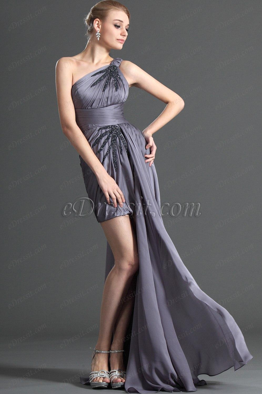 eDressit One shoulder Cocktail Dress with Detachable Train (04123106)