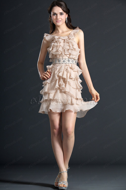 eDressit  Süß Halfter Cocktail Kleid Ballkleid (04120114)