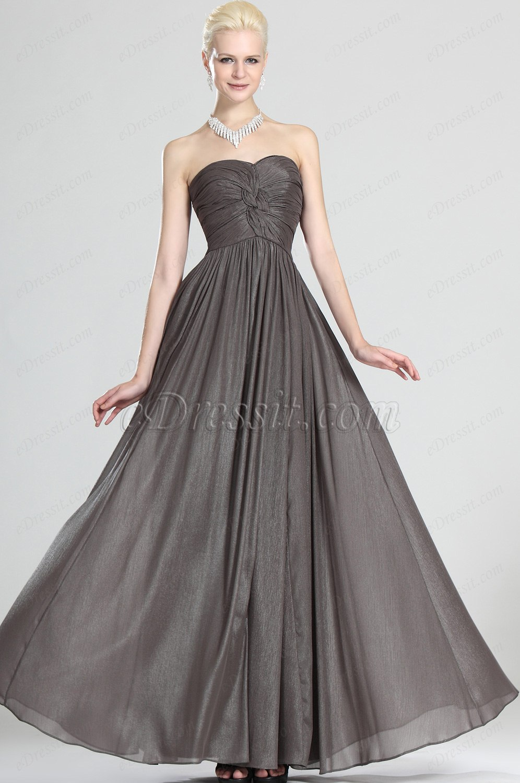 eDressit Grace Strapless Gray Evening Dress (00124008)