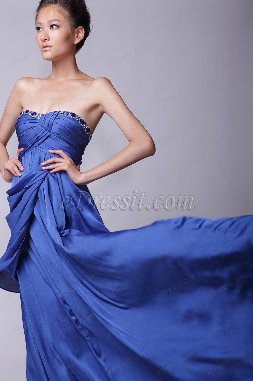 eDressit Elegante Sin Tirante  Vestido de Noche (00124205)