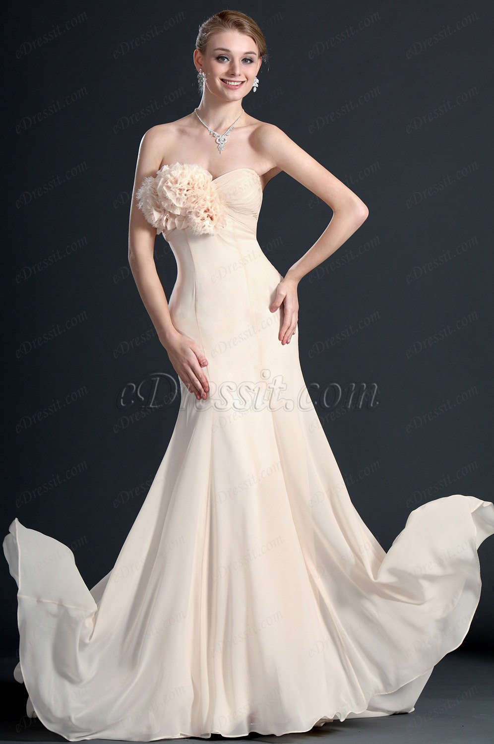 eDressit Simple Elegant Strapless Evening Dress (00122714)