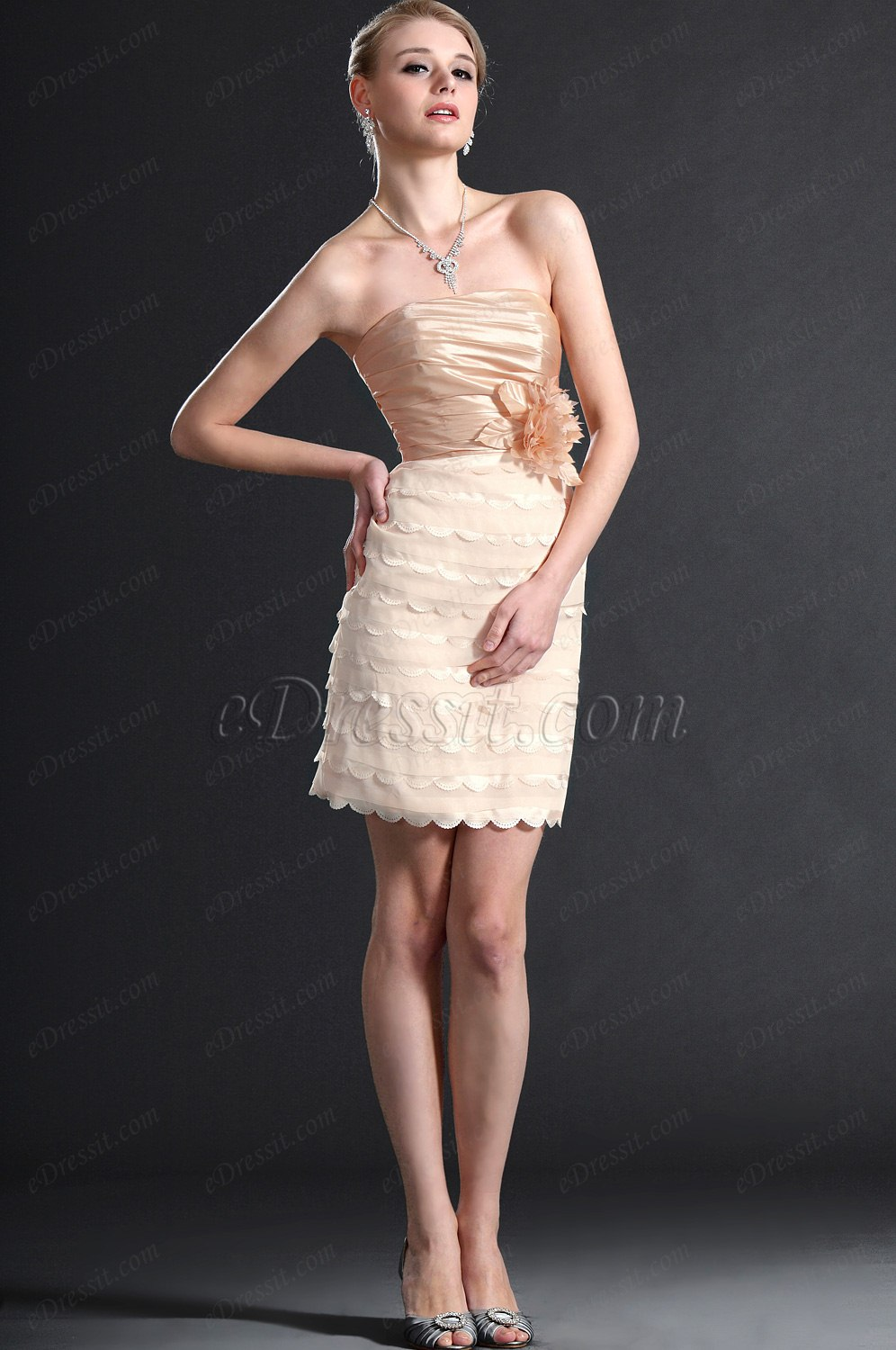 eDressit Stylish Strapless Cocktail Dress Party Dress (04121414)