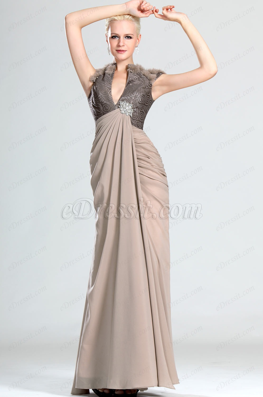 eDressit  Lujoso Sexual Escote en V Vestido de Noche (00123846)