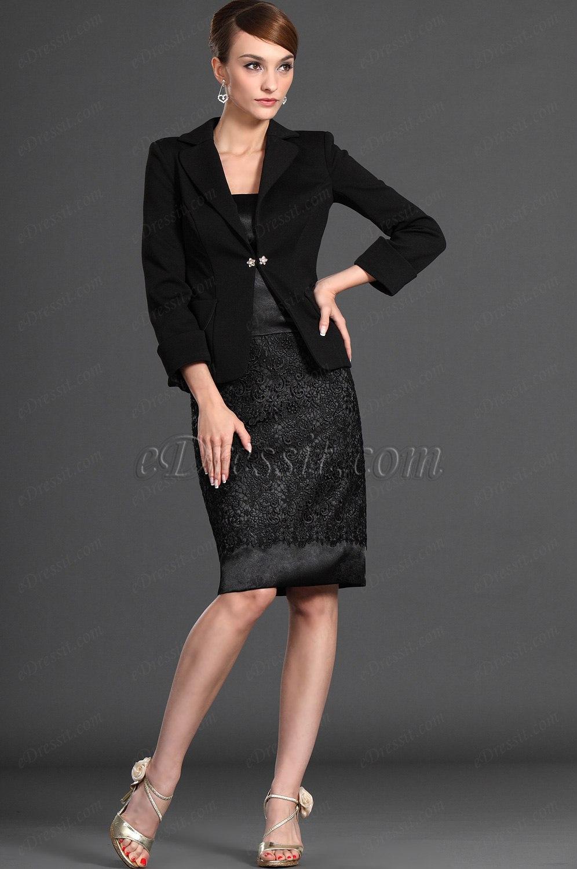 eDressit новое черное платье для дам и два части (26122900)