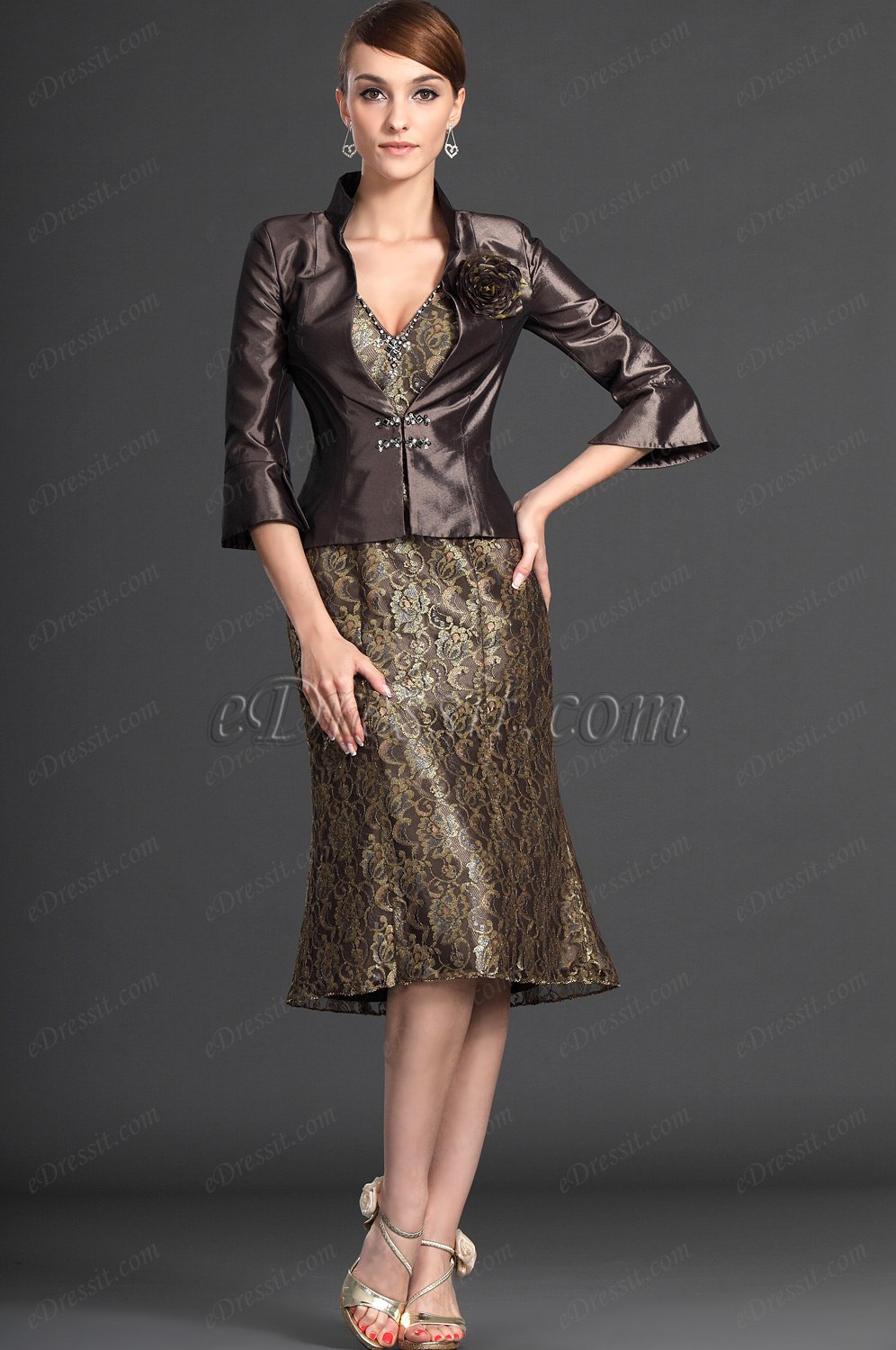eDressit Elegant Two Pieces Mother of the Bride Dress (26123420)