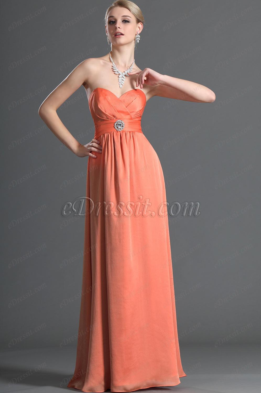eDressit Sweetheart Orange Robe de Demoiselle d'Honneur (07121310)