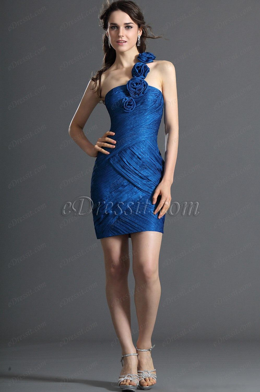 eDressit Nouveaute Bretelle unique Robe de Cocktail Bleu (04121305)