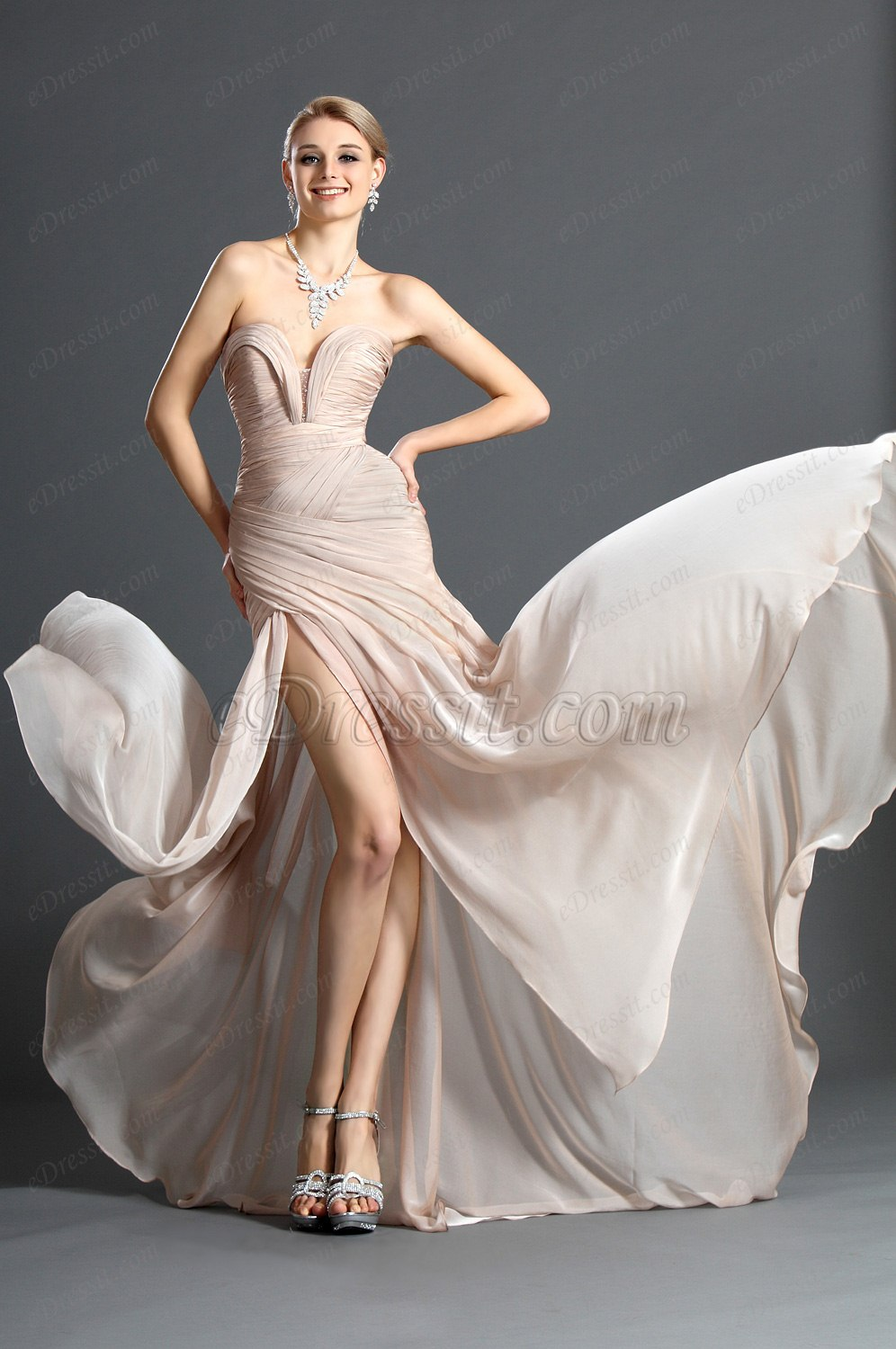 Clearance Sale !eDressit 2012 Ruched bodice Evening Dress (00120514C)