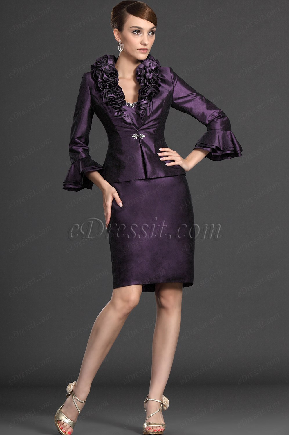 eDressit Elegant Two Pieces Mother of the Bride Dress (26122406)
