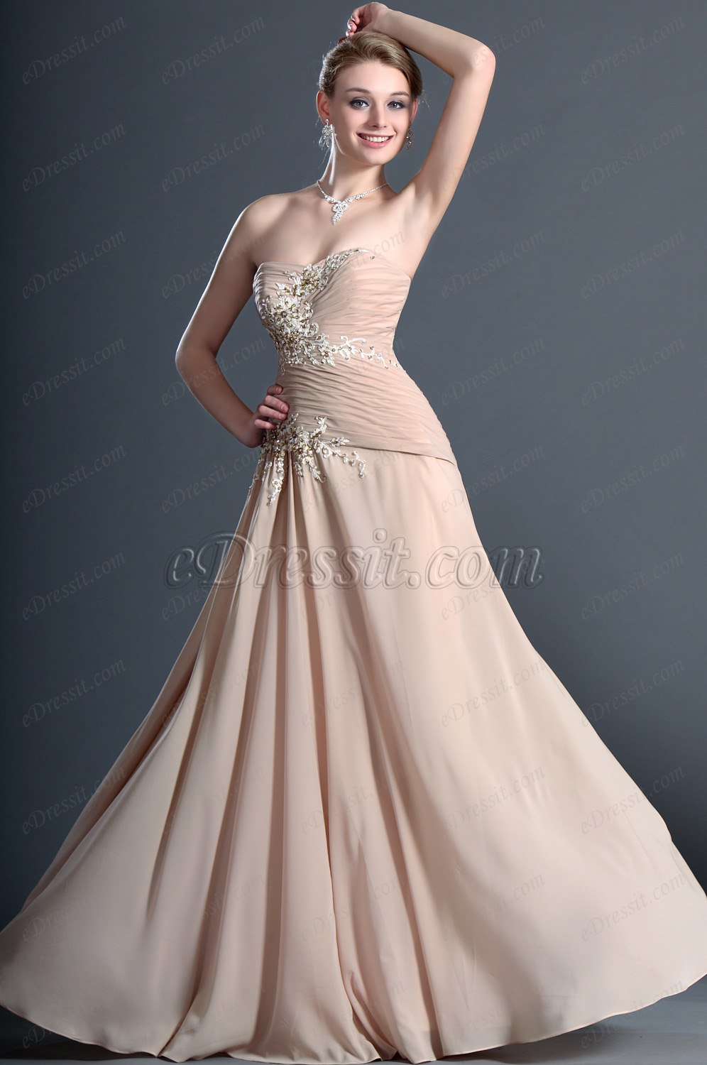 eDressit Graceful Sweetheart Strapless Evening Dress (00123114)