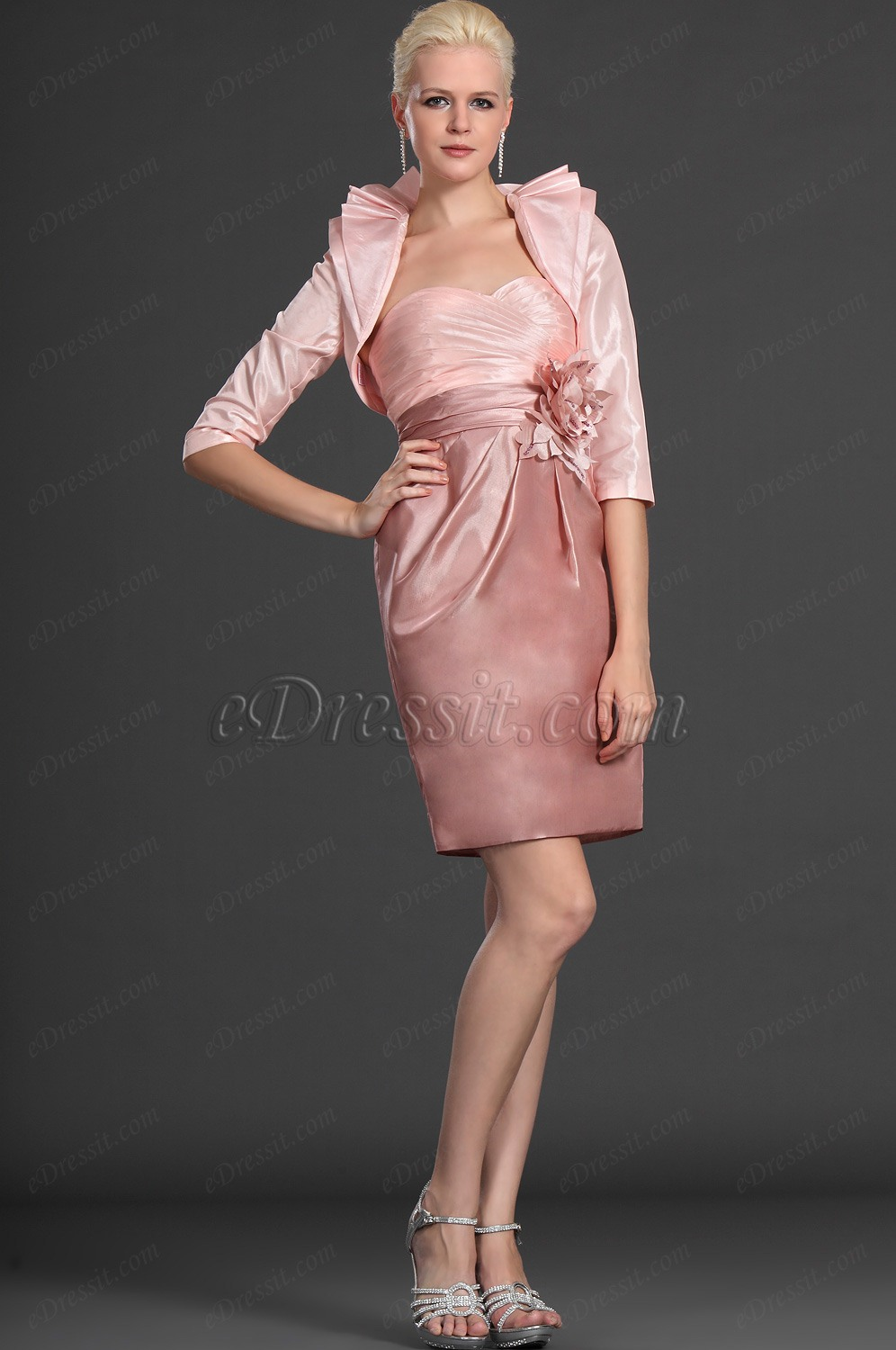 eDressit Elegance Two Pieces Pink Mother of the Bride Dress (26123301)