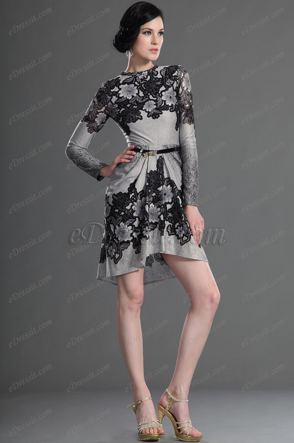 eDressit Long Sleeves Elegant Party Dress Day Dress (03123408)
