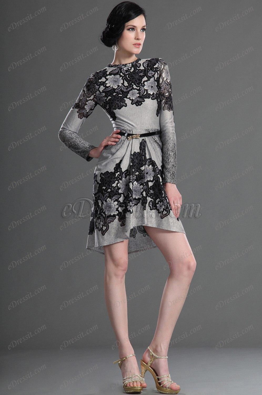 eDressit Nouveautés Elégante Manches longues Robe de journée (03123408)