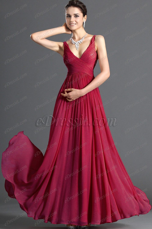 Clearance Sale !eDressit Elegant V-cut Evening Dress Black (00120801C)