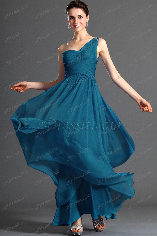On Sale eDressit Fabulous One Shoulder Evening Dress no beadings (00120605b)