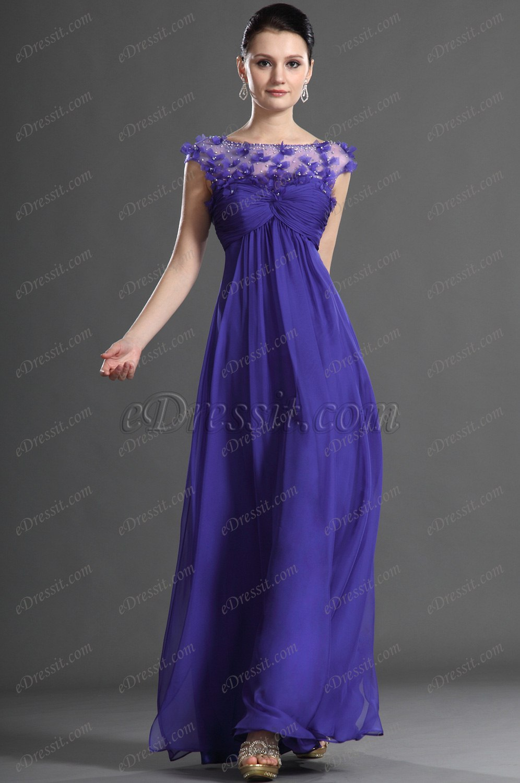 eDressit  Maravilloso Violado Vestido de Noche (02121105)
