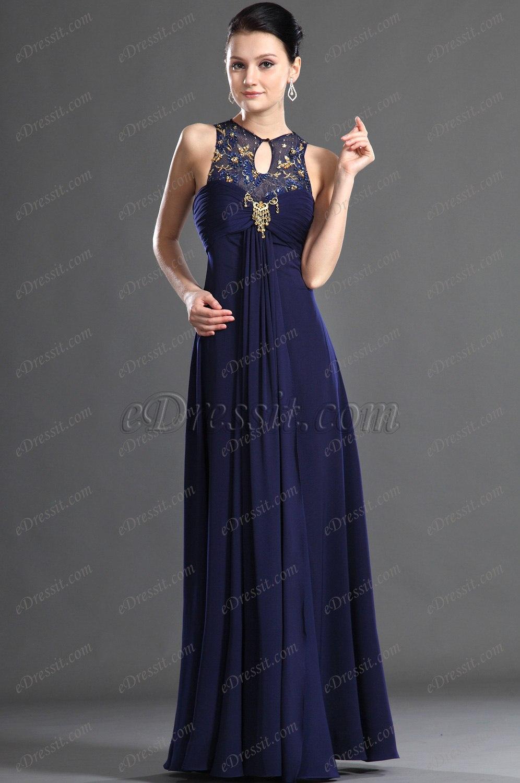 eDressit charmante bleue Robe de Soiree (00128005)