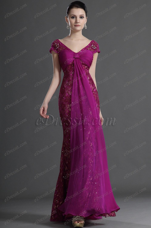 eDressit Kappe Ärmel Elegant Abend KleidDress (26124712)