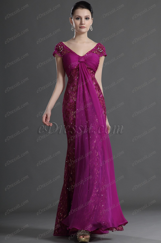 eDressit  Elegance Cap-Sleeves Mother of the Bride Dress (26124712)