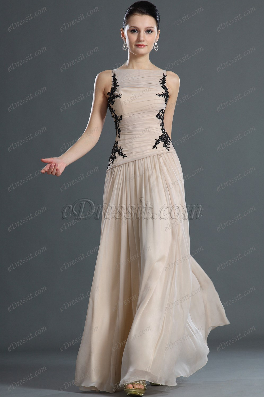 eDressit Fabuloso Negro Encaje Vestido de Noche (02120414)