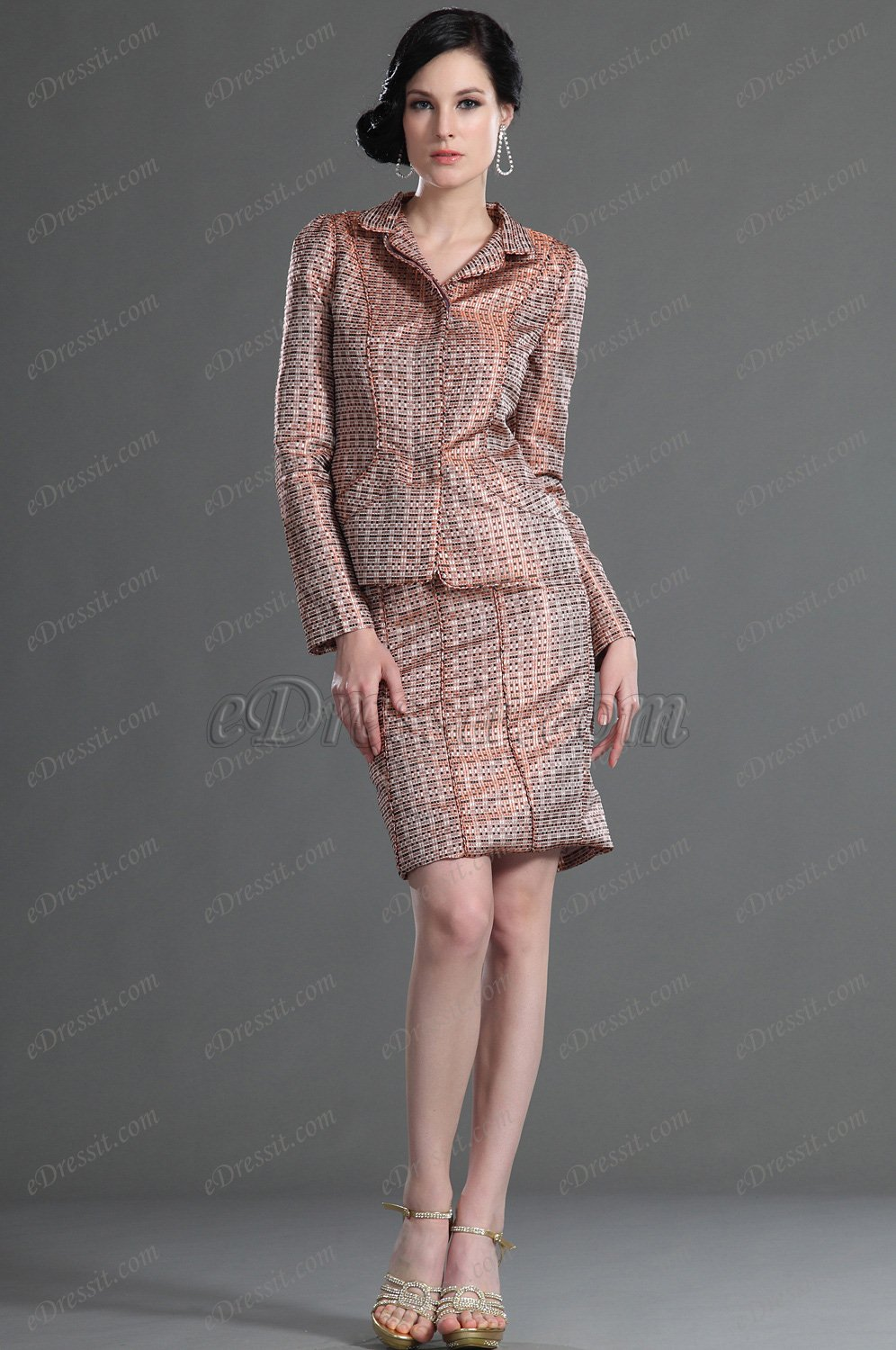eDressit Long Sleeves Day Dress Mother of the Bride Dress (26126601)