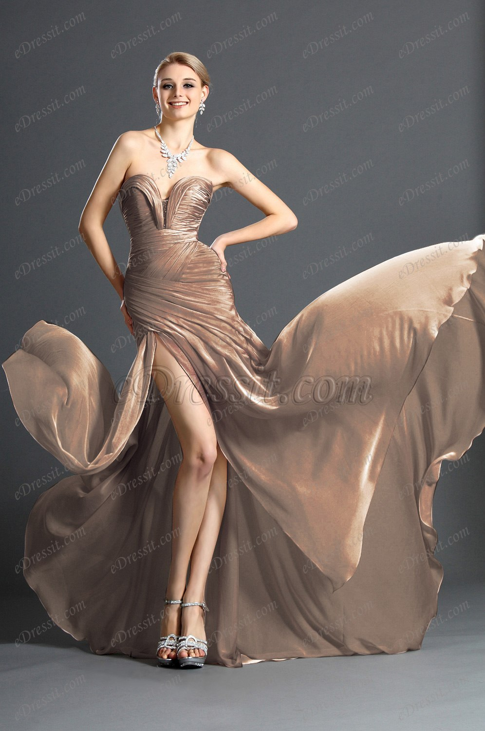 Clearance Sale !eDressit 2012 Ruched bodice Evening Dress (00120514E)