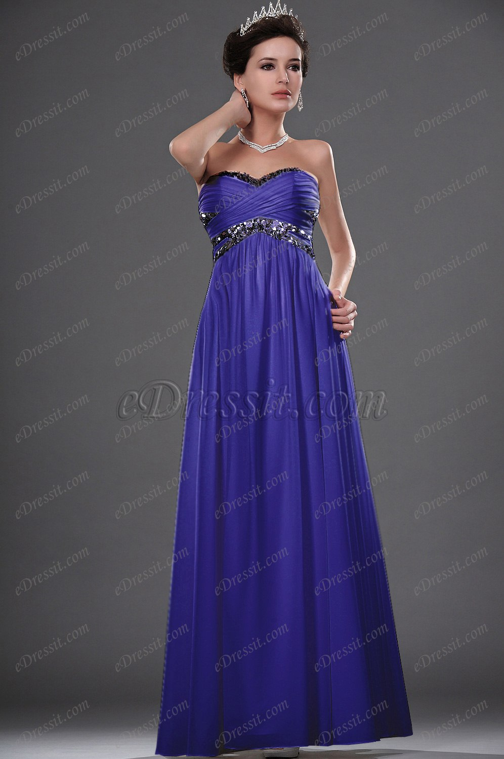 Clearance Sale !eDressit New Strapless Sequins Evening Dress (01111607D)