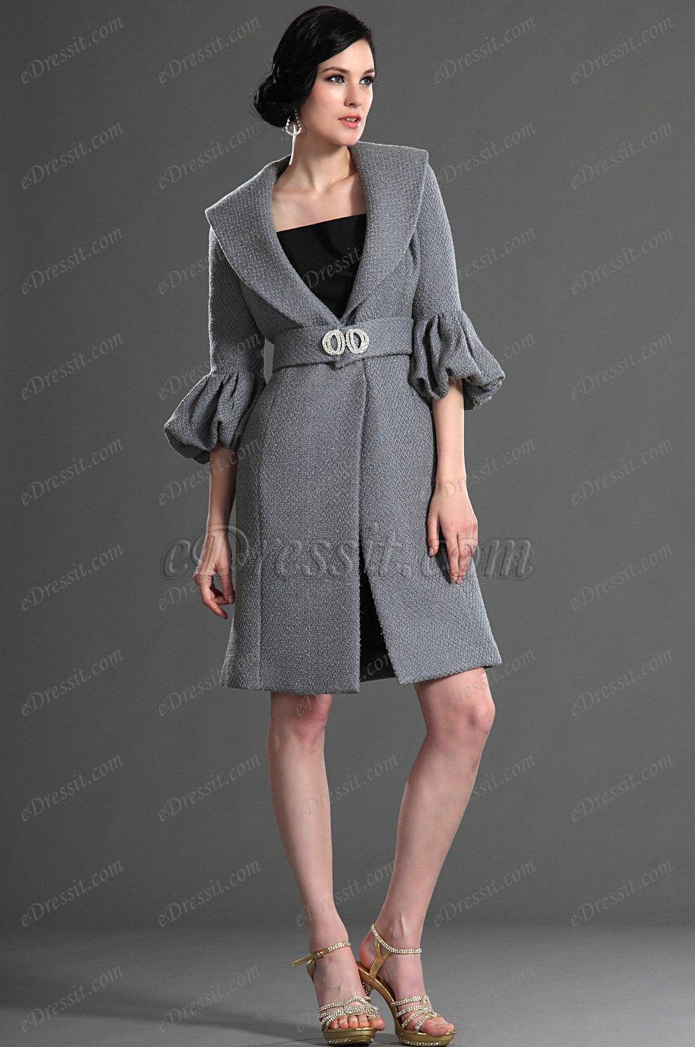 eDressit Fashion Long Sleeves Coat (03123008)