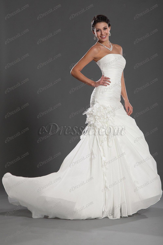eDressit Reizende Trägerlos  Hochzeit Kleid (01121707)