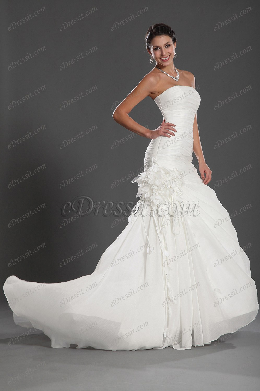 eDressit 2012 Nuevo Maravilloso sin Tirante Vestido de Boda (01121707)