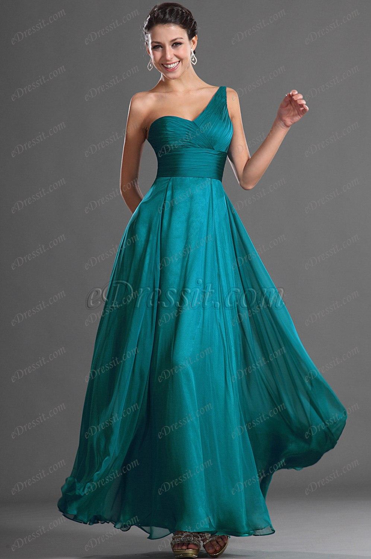 eDressit Atractivo Solo Hombro Vestido de Noche Largo (00127005)