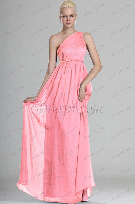 Ausverkauf! eDressit Herrliche Ein Schulter Abend Kleid (00112705B)