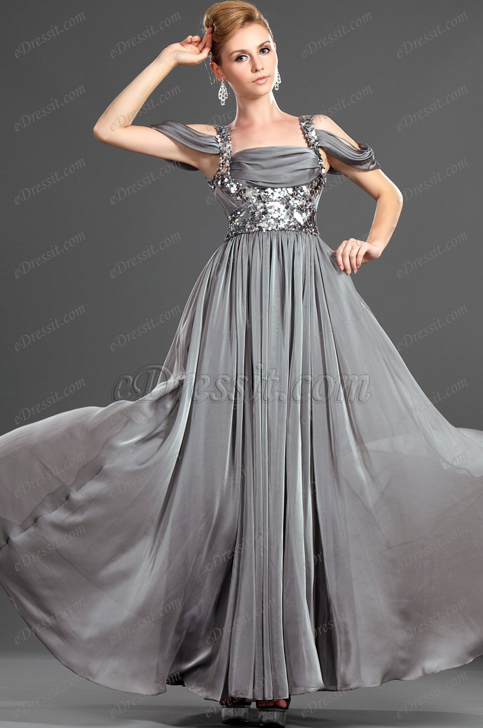 On Sale Fashionable Sequins Evening Dress (00120108B)