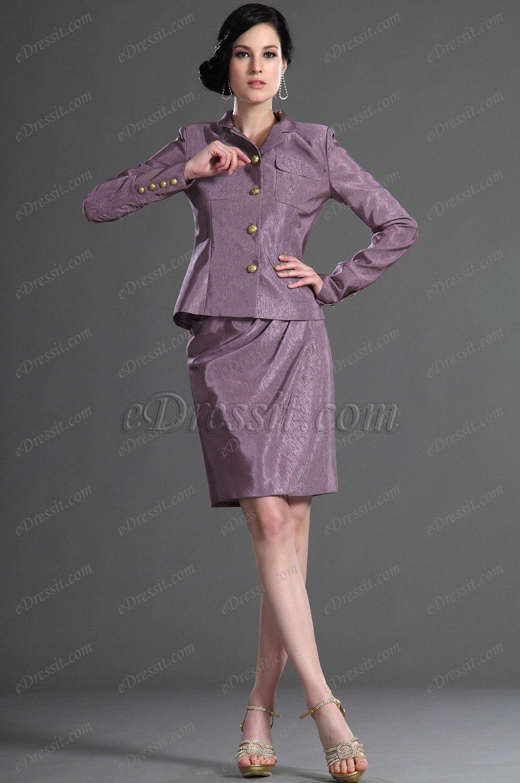 eDressit Nouveautés Manches Longues Violet Robe Mère de Mariage/Robe de Journée (26126806)