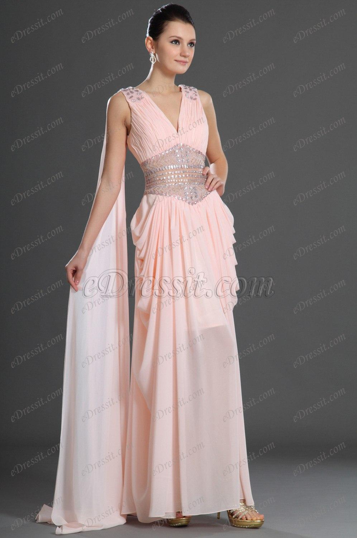 eDressit Scharmant  V-Ausschnitt Abendkleid (36120201)