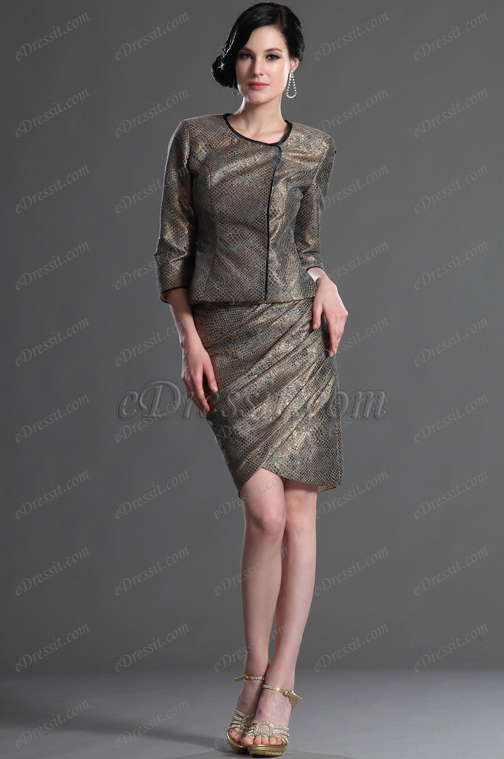 eDressit Elegant Sleeves Mother of the Bride Dress (26125720)